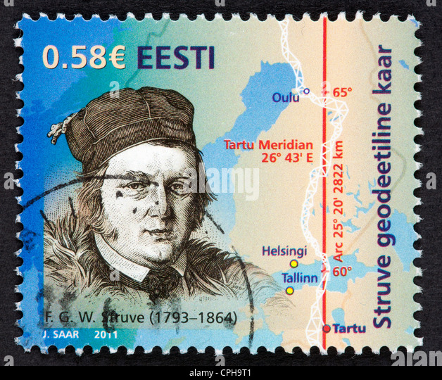 Estonian postage stamp - Stock Image