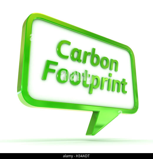 Speech Bubble Carbon Footprint - Stock Image