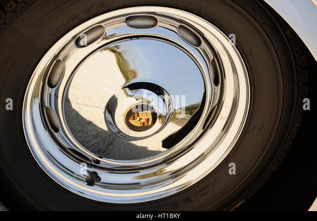 Porsche Speedster 356 1600 Super 1958. Artist: Simon Clay. - Stock Image