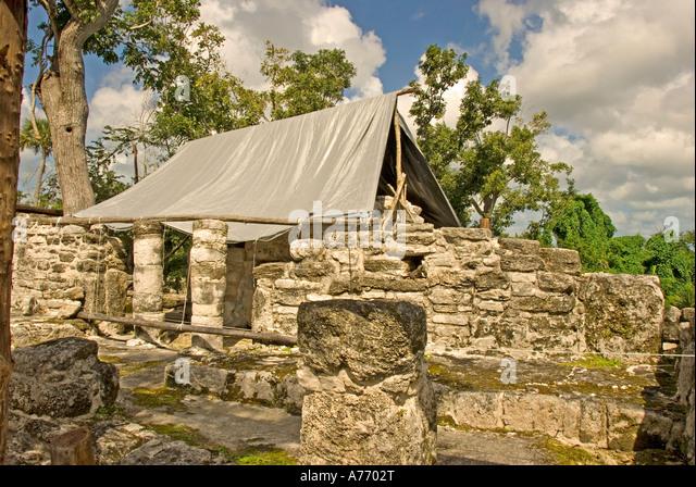 Mexico Cozumel San Gervasio Mayan ruins - Stock Image