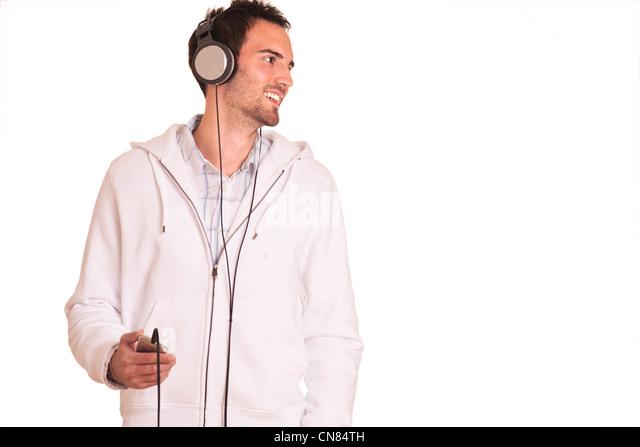 young man with headphones - Stock-Bilder