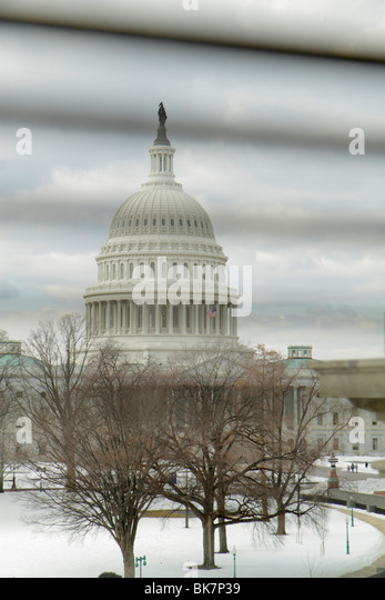 Washington DC United States US Capitol Capitol Hill Historic District dome government Congress symbol democracy - Stock Image