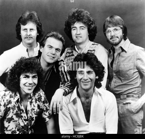 LITTLE RIVER BAND Australian rock group in a promotional photo from Harvest records about 1978. Back row from left: - Stock Image