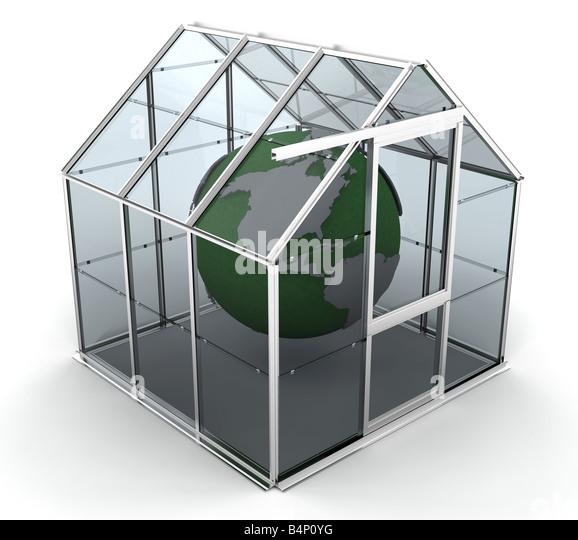 3D rendered image depicting global warming - Stock Image