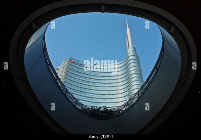 Unicredit Tower, Milan, Lombardy, Italy, July 2017 - Stock Image