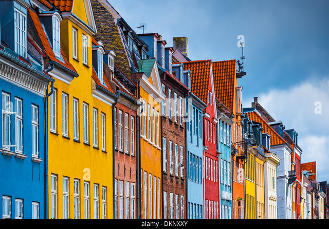 Nyhavn buildings in Copenhagen, Denmark. - Stock-Bilder