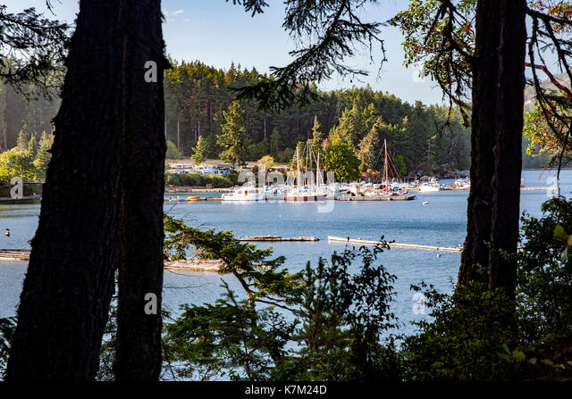 Becher Bay Marina near East Sooke Regional Park, Sooke, Vancouver Island, British Columbia, Canada - Stock Image