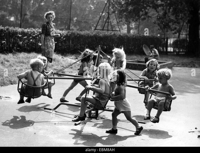 ENGLISH NURSERY SCHOOL about 1948 - Stock Image