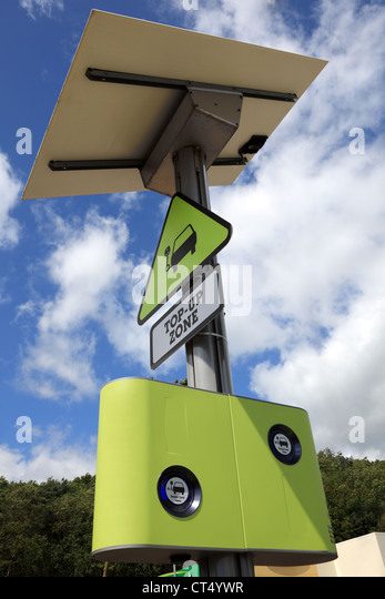 Charging point for electric car - Stock Image