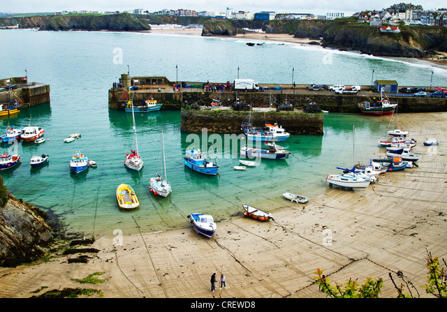 Newquay Harbour, Cornwall,UK - Stock Image