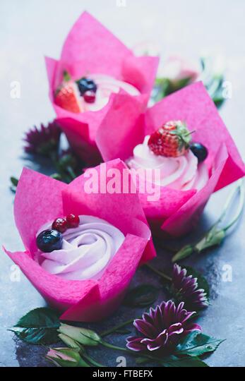 Spring cupcakes - Stock Image
