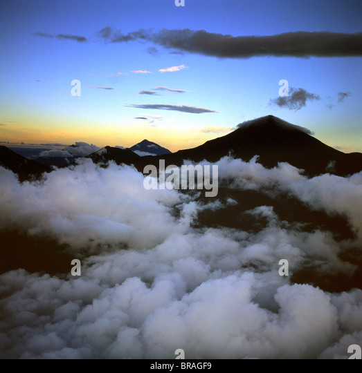 Aerial view of Mount Karisimbi, a dormant volcano in the Virunga Mountains - Stock-Bilder