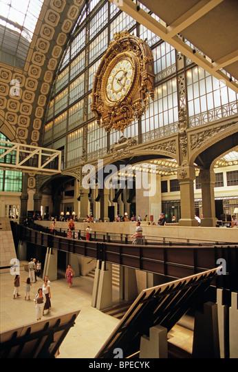 Museum Entry Foyer : Impressionist art exhibit stock photos
