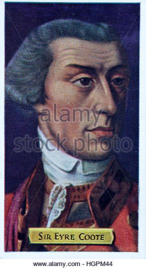 Lieutenant-General The Right Honourable Sir Eyre Coote - Stock Image