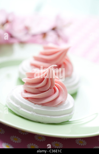 meringue nests - Stock Image