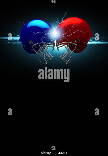 American football sport invitation poster or flyer background with empty space - Stock Image
