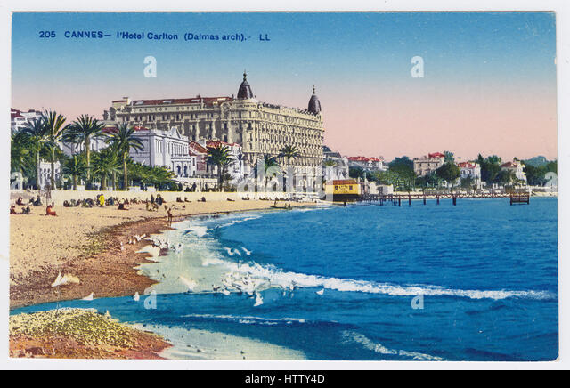 Hotel Carlton, Cannes, France - Stock Image