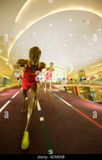China Beijing Wangfujing Olympic sporting display - Stock Image