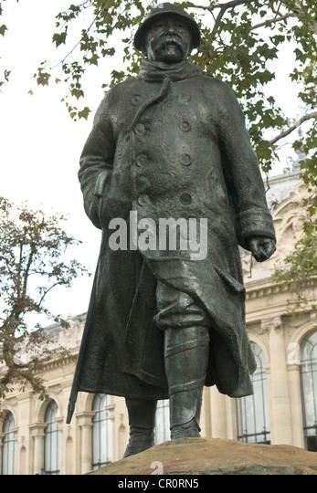 Clémenceau statue - Stock Image