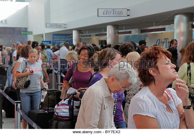 Maryland Baltimore BWI Baltimore Washington International Thurgood Marshall Airport AirTran Airways low-cost airline - Stock Image