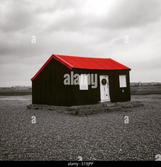 Lonely beach cabin - Stock-Bilder