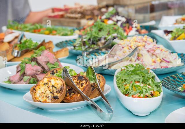 Beautiful buffet food - Stock Image