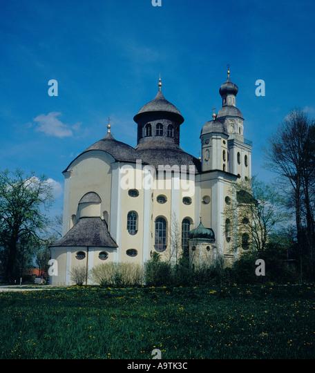 Wallfahrtskirche Maria Birnbaum Adelzhausen Bavaria Germany Europe. Photo by Willy Matheisl - Stock Image