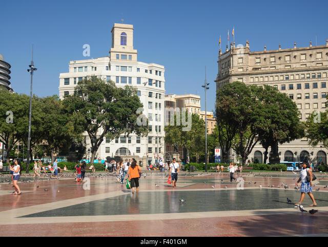 Placa catalunya barcelona stock photos placa catalunya - Placa kennedy barcelona ...
