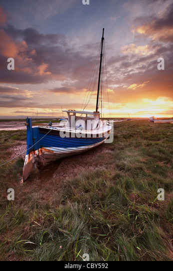 Mud Flats Heswall Beach The Wirral Cheshire - Stock Image