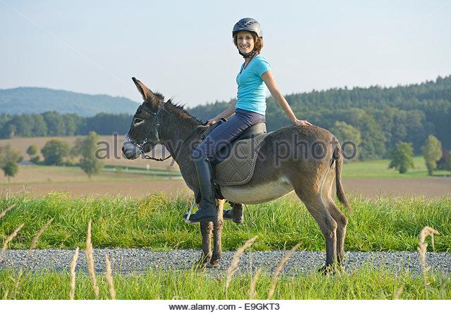 two girls donkey riding