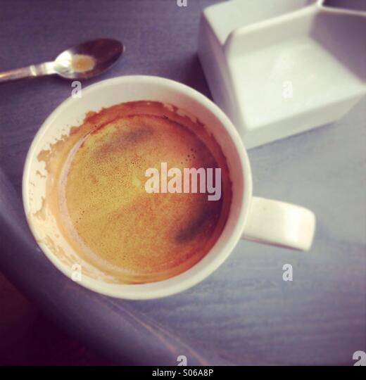 Morning coffee - Stock Image