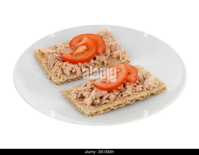 Crispbread with Tuna - Stock Image