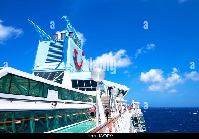 thomson tui marella cruise liner ship in the mediterranean sea - Stock Image