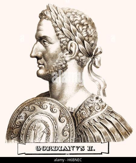 Gordian II, c. 192-238, Roman Emperor - Stock-Bilder