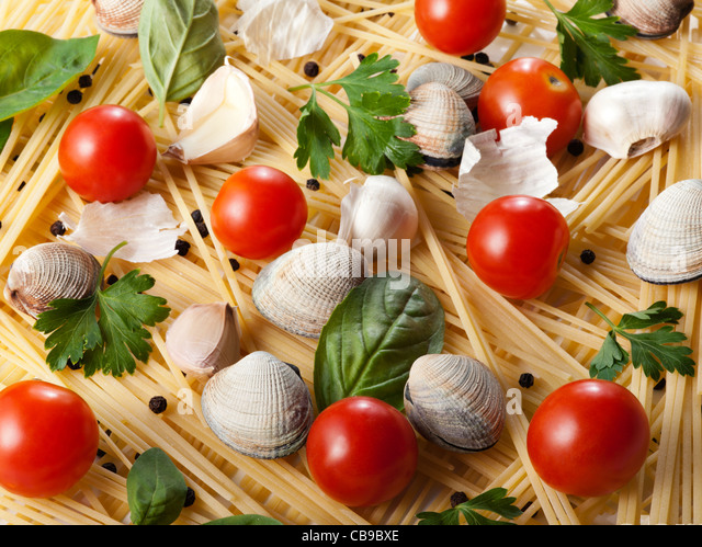 pasta with clams - Stock Image