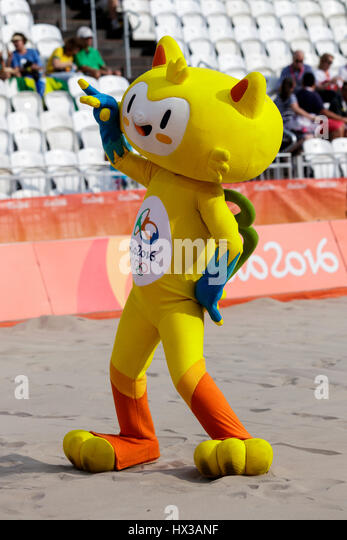 Rio de Janeiro, Brazil. 15 August 2016 Vinicius. mascot for the 2016 Olympic Summer Games. ©Paul J. Sutton/PCN - Stock Image