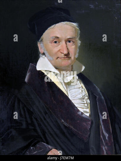 CARL FRIEDRICH GAUSS (1777-1855) German mathematician painted by Christian Jensen in 1840 - Stock-Bilder