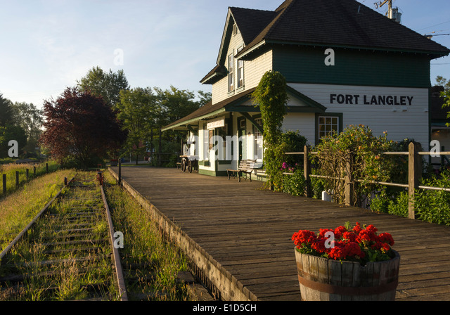 Elk203-1347 Canada, British Columbia, Fort Langley, train station - Stock Image