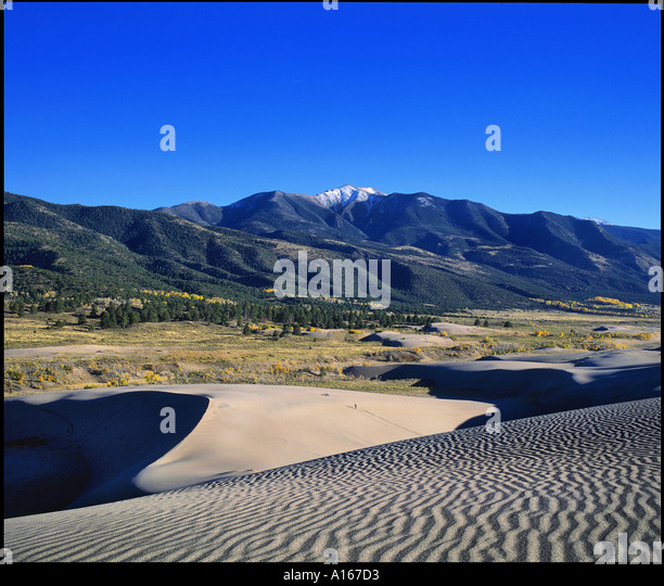 Great Sandunes National Monument Colorado - Stock Image