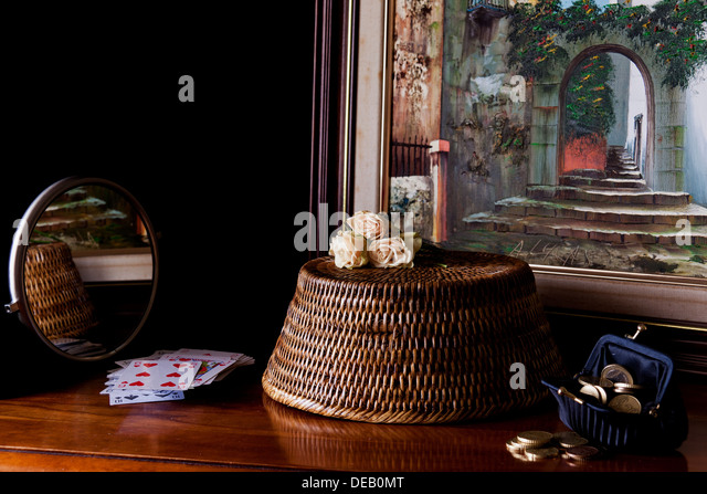 still life with money - Stock Image
