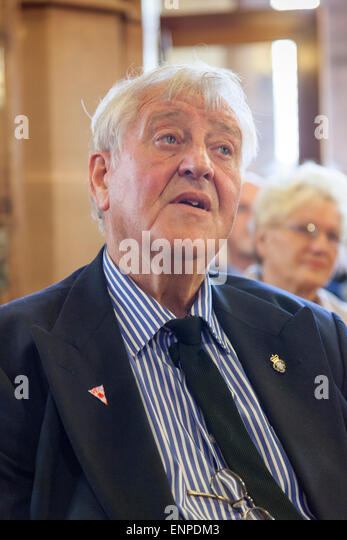 Holy Trinity Church, Chesterton, UK. 8 May 2015. Husband Colin Gregory at the Memorial Service for the life of Singer/Songwriter - Stock Image