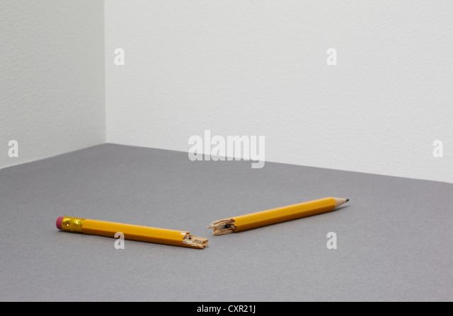 Broken pencil - Stock Image