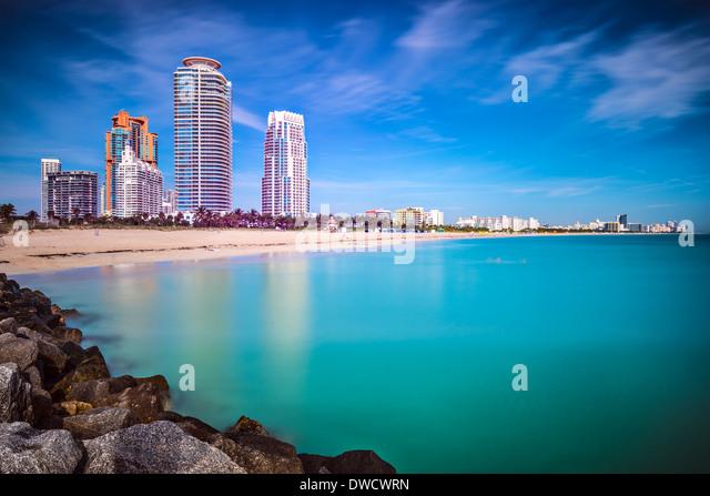 Miami Beach, Florida, Cityscape - Stock Image