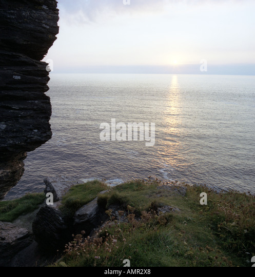 Ocean view on the English South West coast - Stock Image