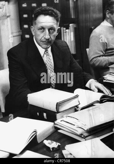 Eichmann, Adolf, 19.3.1906 - 1.6.1962, German ss officer, Eichmann Trial, 2.4.- 15.12.1961, Commander Selinger, - Stock-Bilder