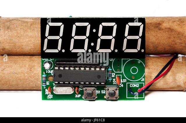 Ticking time bomb 1 - Stock Image