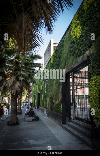 contemporary architecture building with a vertical garden in Mexico City Downtown - Stock-Bilder