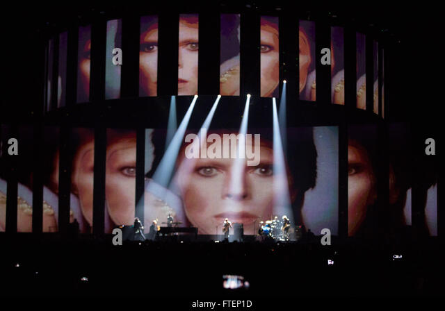 Brit Awards Show at the 02 Arena in London.  Featuring: Lorde, Bowie Tribute Where: London, United Kingdom When: - Stock Image