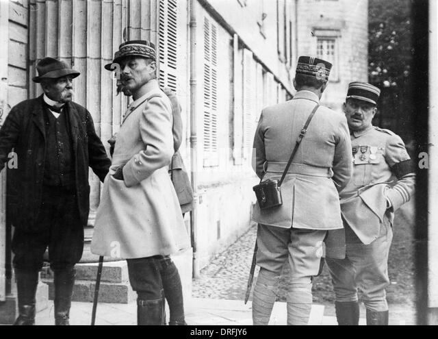 Georges Clemenceau with Generals Mordacq and Humbert - Stock Image