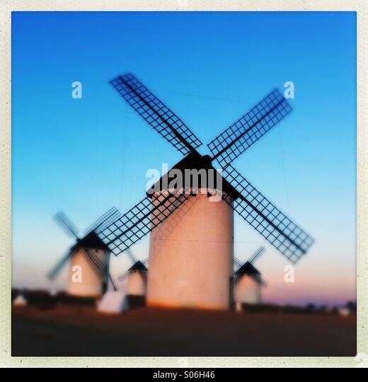 Windmills on La Paz hill - Stock-Bilder
